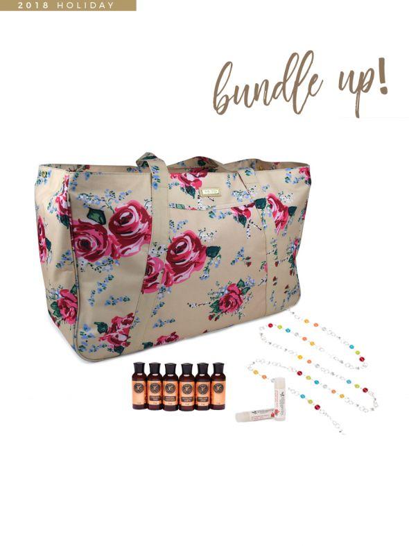 Youngevity GIGI HILL Bundle Bag - November Customer Special Antique Floral